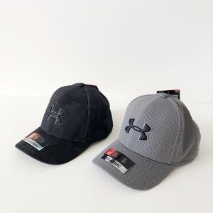 (2) Under Armour Boys Hats Classic Fit Size S/M